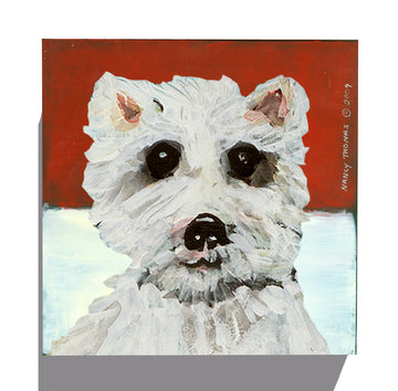 Gallery Canvas - Dog Face - Westie