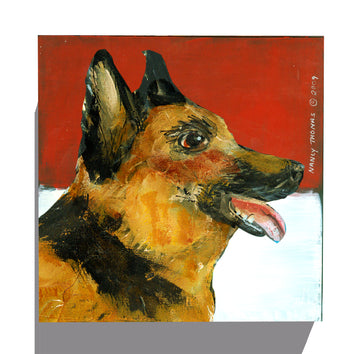 Gallery Canvas - Dog Face - German Shepherd