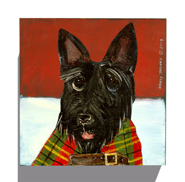 Gallery Canvas - Dog Face - Scottish Terrier