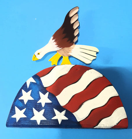 Patriotic Eagle Table Topper - ONLY 2 LEFT!