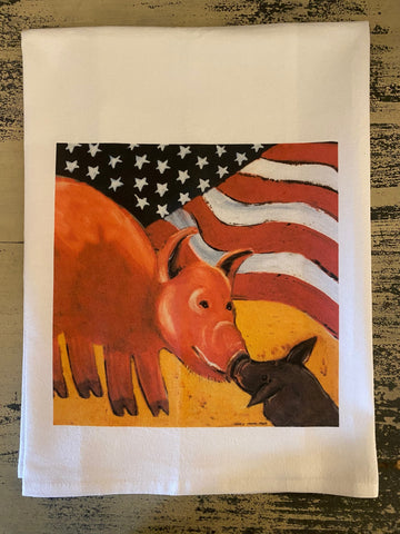 NANCY THOMAS KITCHEN TEA TOWELS - SMITHFIELD PIG