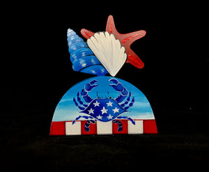 Patriotic Starfish Table Topper - ONLY 1 LEFT!