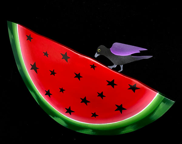 WATERMELON with Metal Crow
