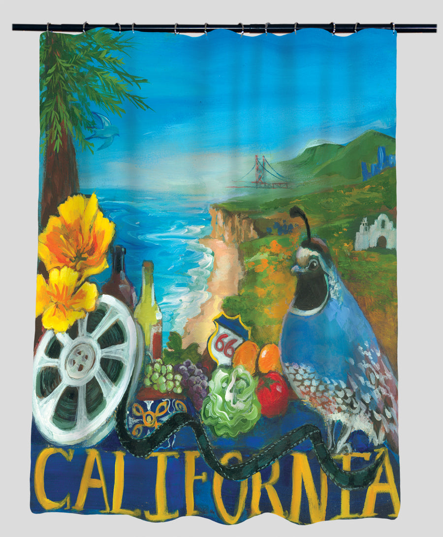 Nancy Thomas Gallery Shower Curtains - States - California