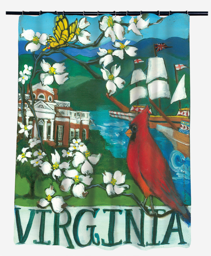 Nancy Thomas Gallery Shower Curtains - States - Virginia