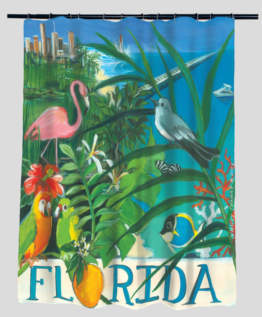 Nancy Thomas Gallery Shower Curtains - States - Florida