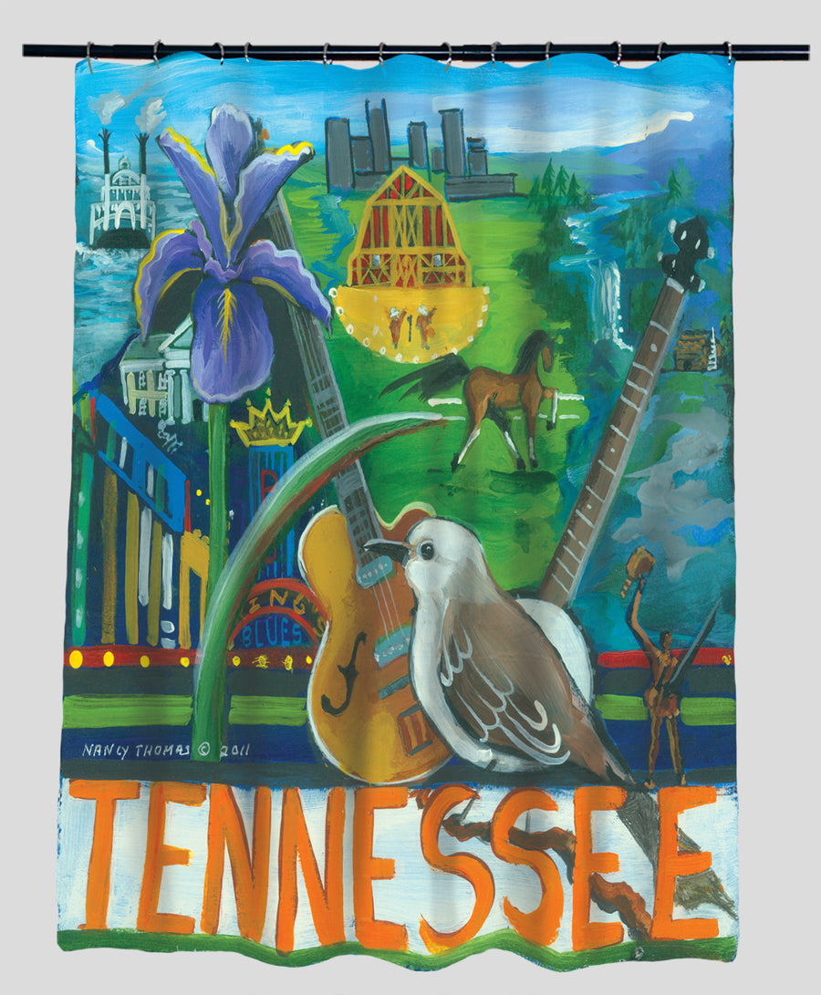 Nancy Thomas Gallery Shower Curtains - States - Tennessee