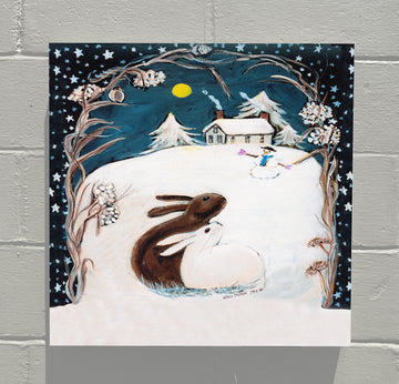 Gallery Canvas - Winter Rabbits