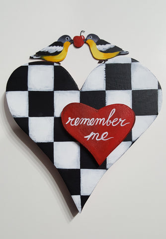 ONLY 1 LEFT! ~ REMEMBER MY CHECKERED HEART