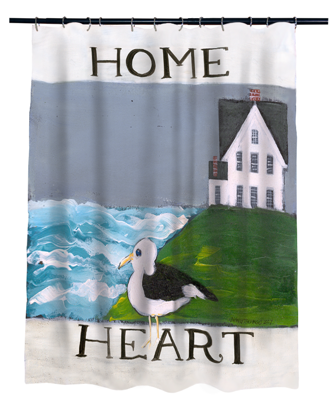 Nancy Thomas Gallery Shower Curtains - Heart & Home Collection