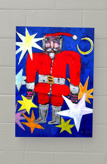 8x11 AVAILABLE NOW! GALLERY GRAND - Star Struck Santa!
