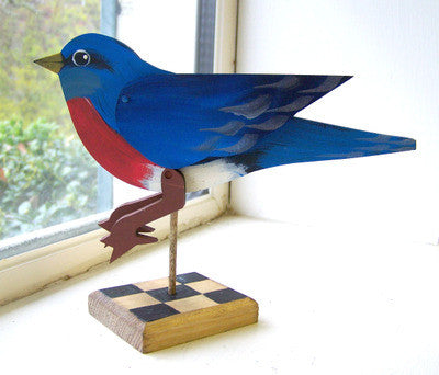 Bluebird on Stand - Articulated