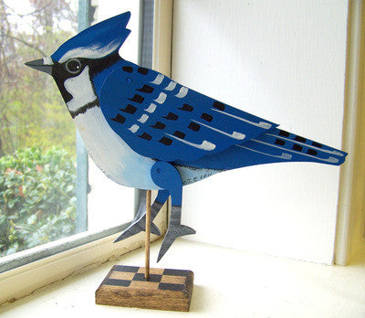 Bluejay on Stand - Articulated