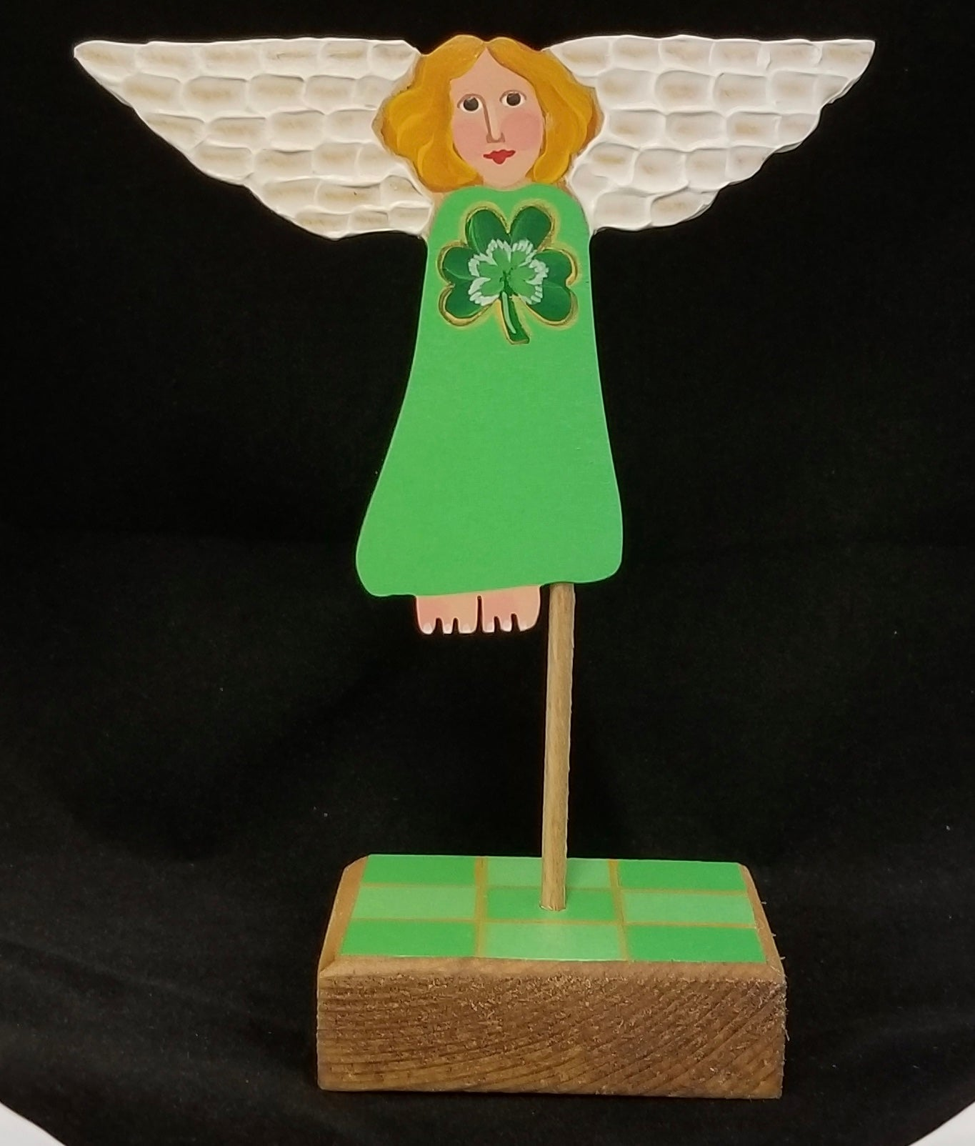 Mini Treetop Angel (TTA) - Shamrock on base. Limited Edition