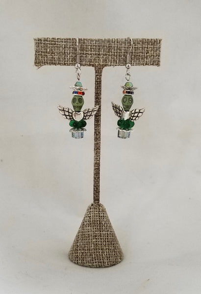 "LT Earrings - ""GUARDIAN ANGEL RAINBOW CROWN"""