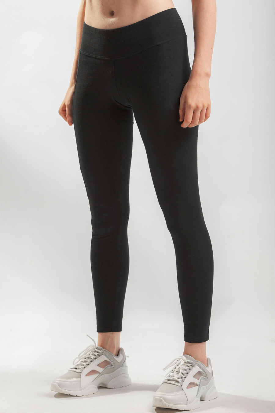 Womens Cotton Spandex Pocket Leggings
