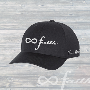 Infinite Faith Custom Hat - White