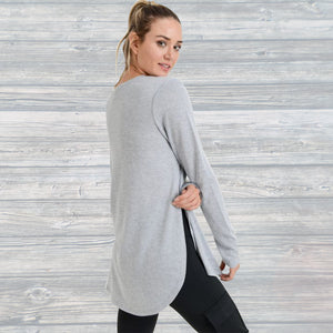 Long Sleeve Flowy Top with Side Slits