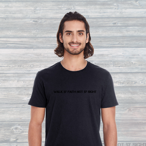 Unisex Incognito Walk By Faith Not By Sight T-Shirt Black