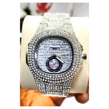 Load image into Gallery viewer, Patek Philippe PP437 iced stone unisex chain watch
