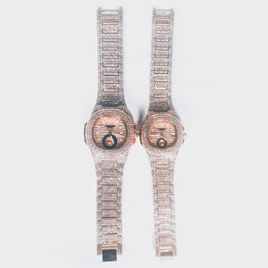 Keep Moving KM165 Couple's Chain watch - Bejewel