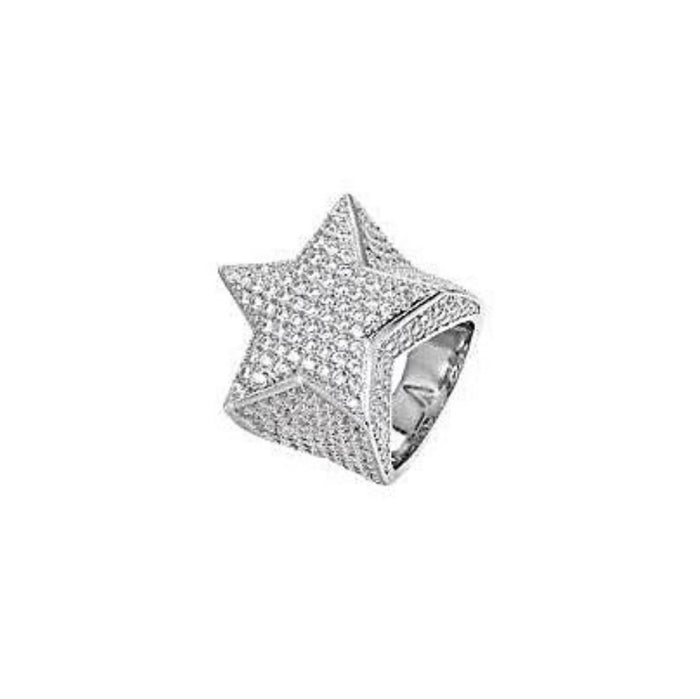Iced out star fashion ring - Bejewel
