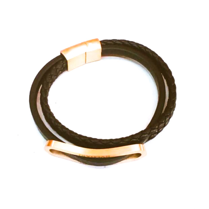 M284 men's leather bangle - Bejewel