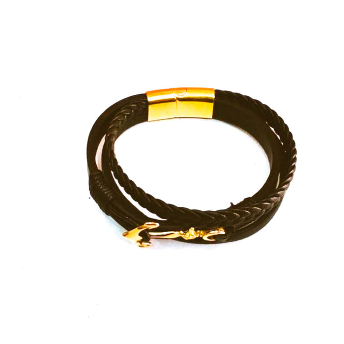 M283 men's leather bangle - Bejewel