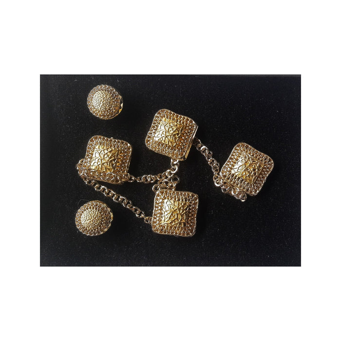 JS745 Etibo native cufflinks and stud set - Bejewel
