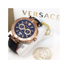 Load image into Gallery viewer, Versace VS573 Chronograph unisex Leather watch - Bejewel