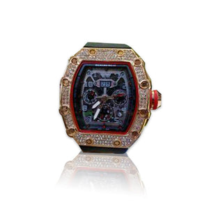 Richard Mille RM319 Chronograph - Men's Rubber Watch - Bejewel