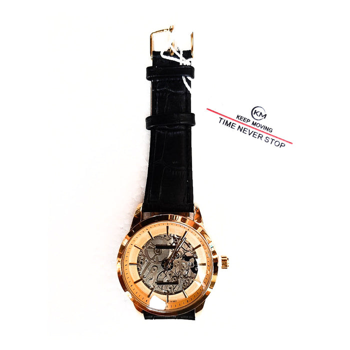 Keep Moving KM422 unisex Leather watch - Bejewel