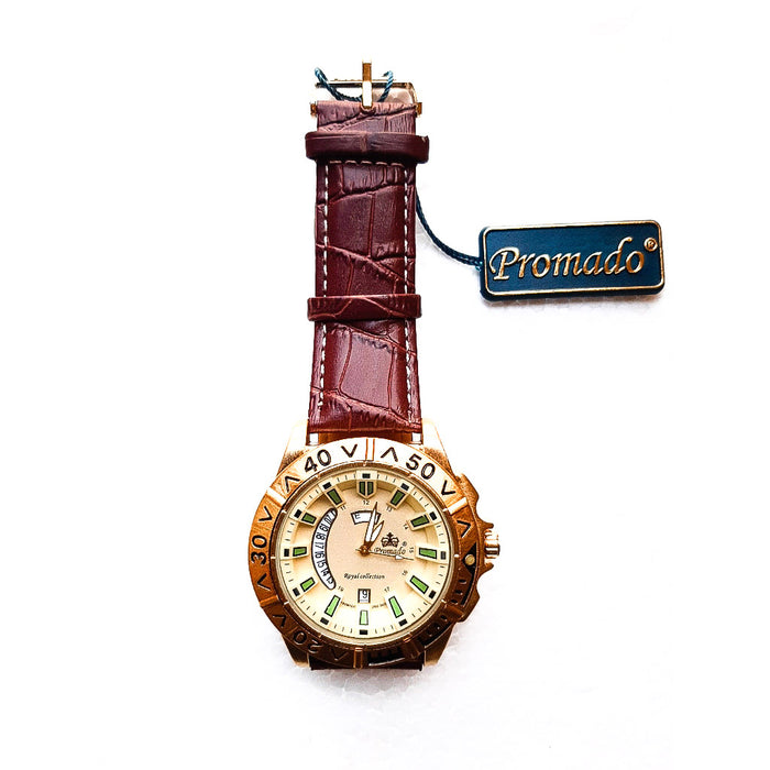 Promado PM607 men's leather watch - Bejewel