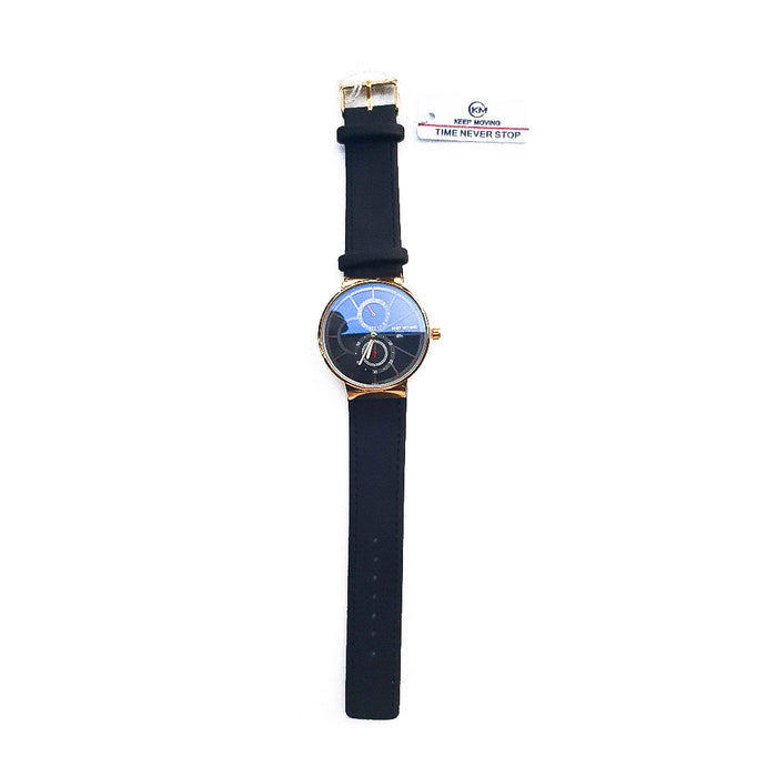 Look World LW133 Unisex Leather Watch - Bejewel