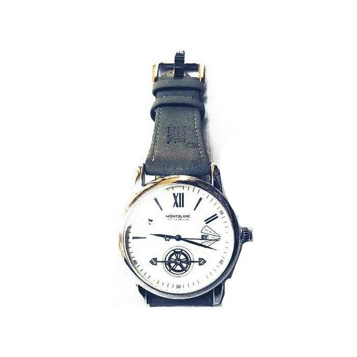 Montblanc- M336 unisex leather strap watch - Bejewel