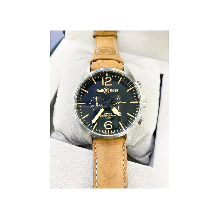 Bell Ross BR679 Chronograph - Men's Leather Watch - Bejewel