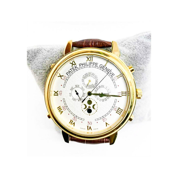 Patek Philippe PP892 - Chronograph Men's Leather Watch - Bejewel