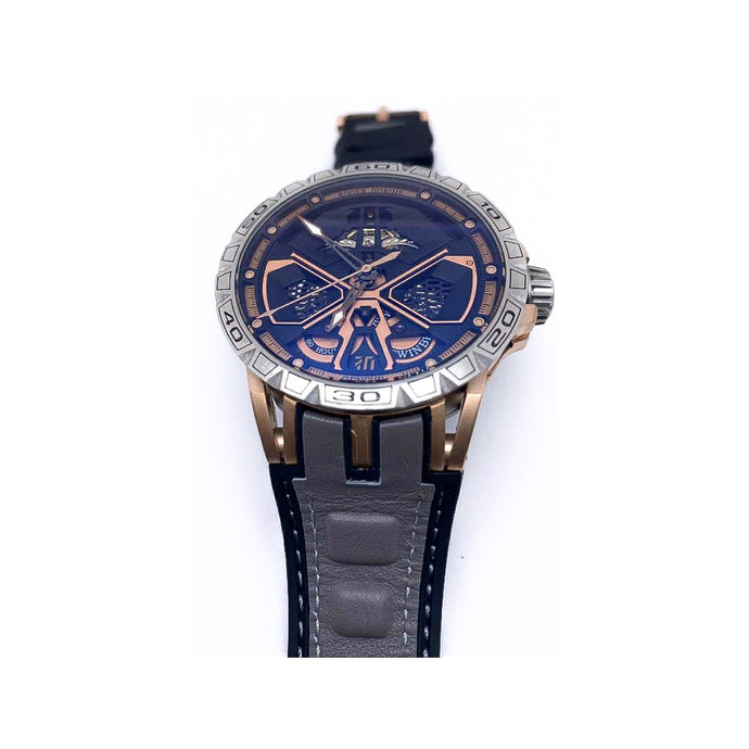 Roger Dubuis RD619 Automatic Chronograph - Men's Leather Watch - Bejewel