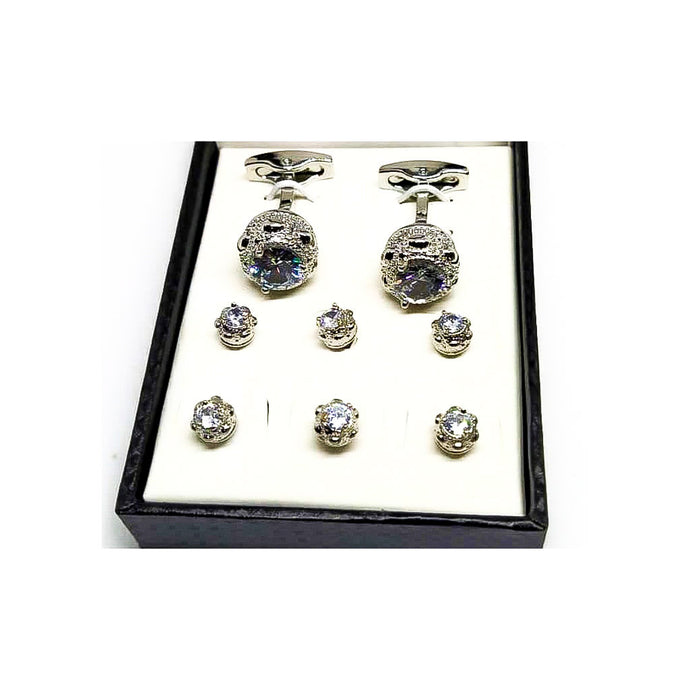 CS852 Fashion Cufflink + Stud Set - Bejewel