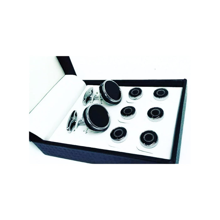 CS719 Fashion Cufflink + Stud Set - Bejewel