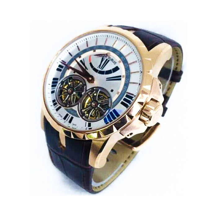 Roger Dubuis RG996 Tourbillon Chronograph - Men's Leather Watch - Bejewel
