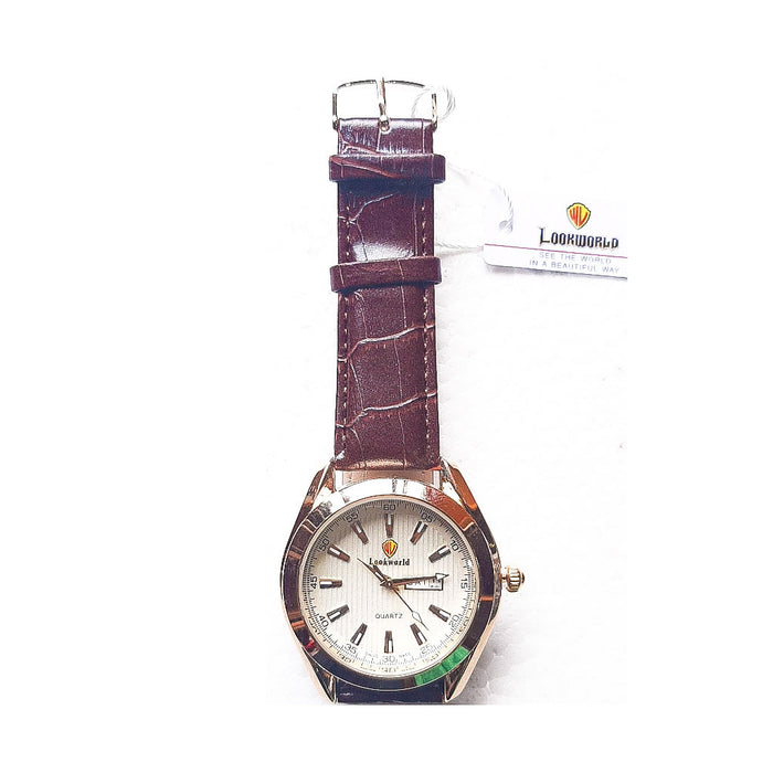 Look World LW855 Men's Leather Watch - Bejewel