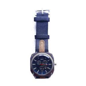 IWC12 Unisex Leather Watch - Bejewel
