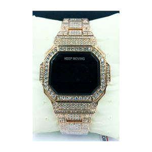 Keep Moving KM209 Touch Screen - Unisex Chain Watch - Bejewel