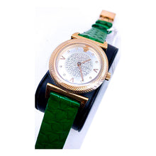 Load image into Gallery viewer, Versace VS217 Women's Leather Watch - Bejewel