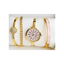 Load image into Gallery viewer, Anne Klein AN317 Women's Chain Watch + Bracelet Set - Bejewel