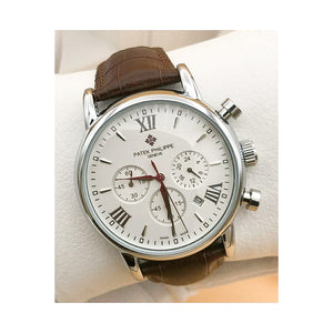 Patek Philippe PP350 Chronograph - Men's Leather Watch - Bejewel