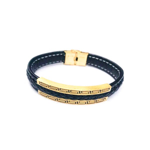 GC228 Men's Leather Bangle - Bejewel