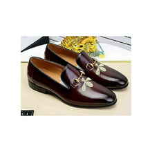 Load image into Gallery viewer, MS880 Men's Leather Loafer Shoe - Bejewel