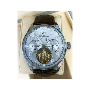 IW890 Tourbillon Chronograph - Men's Leather Watch - Bejewel
